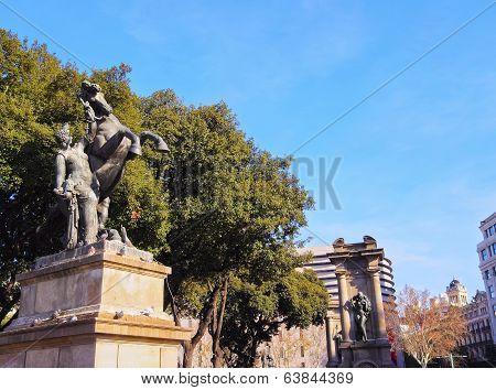 Catalonia Square In Barcelona