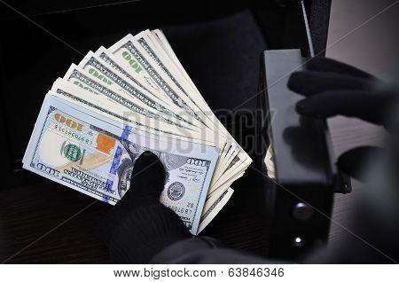 Thief Steals Dollars