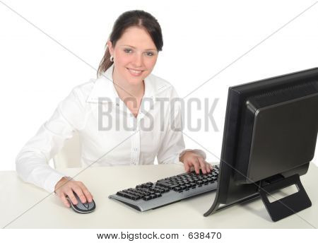 Businesswoman Working At The Computer