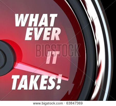 Whatever it Takes Words Speedometer Challenge Goal