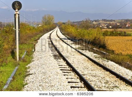 Railroad at the Greek-Bulgarian borders at Promahon, Europe