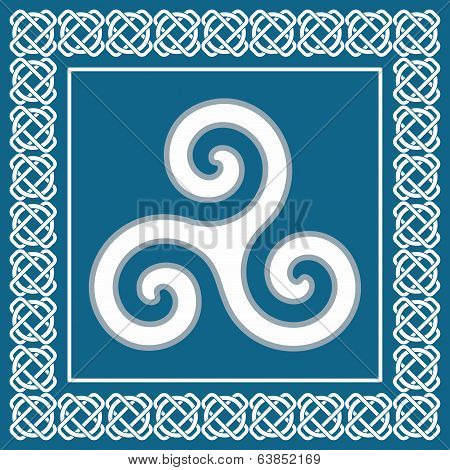 Symbol Triskelion Or Triskele, Traditional Element Typical For Celtic (scandinavian) Ethnic culture