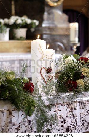 Burning Wedding Candle