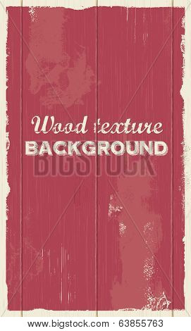 Vector wood background texture illustration. Retro vintage style.