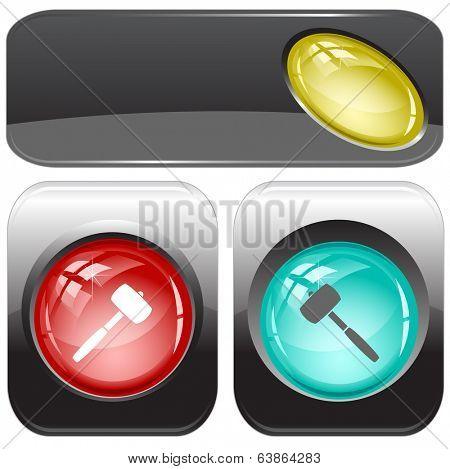 Mallet. Vector internet buttons.