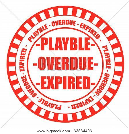 Playble Overdue Expired Stamp