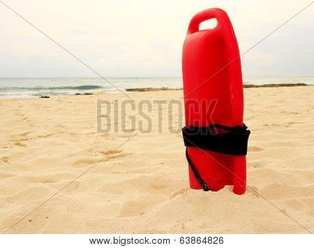 Red Plastic Lifeguard Tube