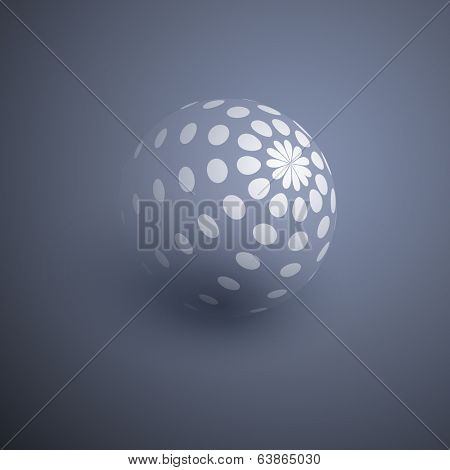 Globe Design with Dots