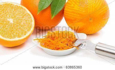 Orange Fruits And Zest.