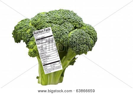 Broccoli with Nutrition Label