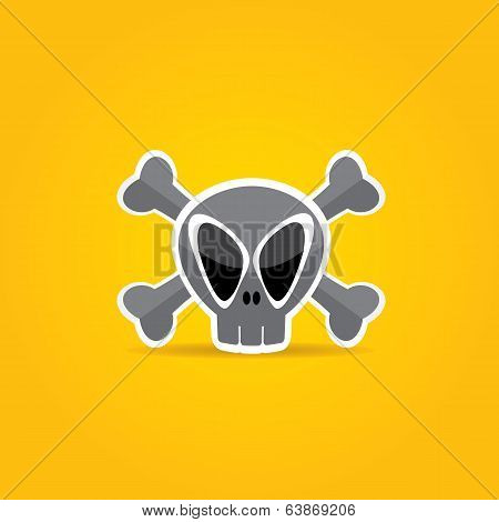 funny Skull vector illustration.
