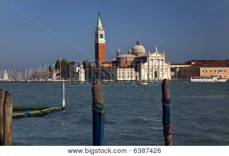 San Giorgio Maggiore Church And Bell Tower Grand Canal Venice Italy