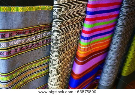 Color Of Cloth Woven From Laos