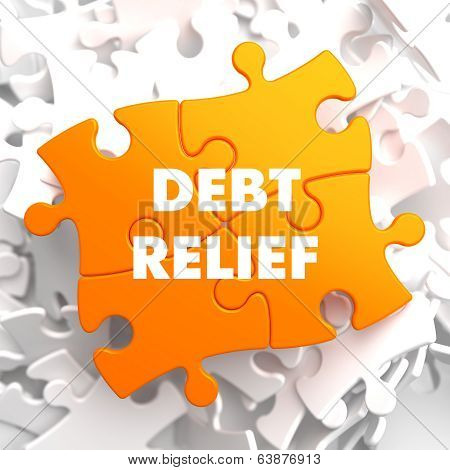 Debt Relief on Orange Puzzle.