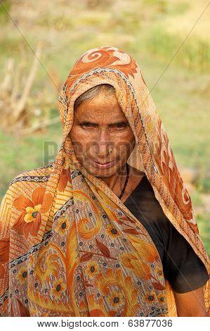 Old Indian Farmer Woman