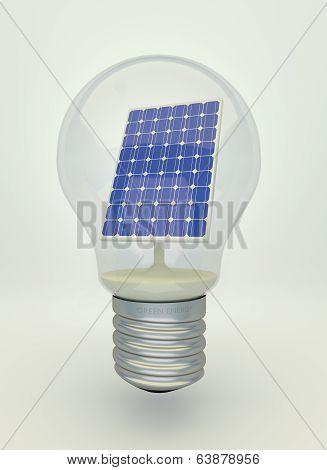 Solar Panel In Light Bulb