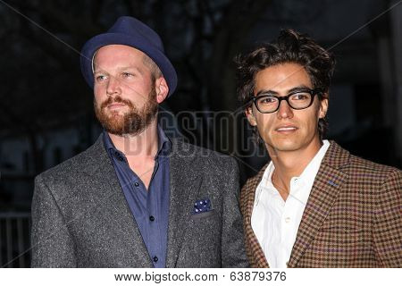 NEW YORK, NY - APRIL 23: Director Jeremy Whelehan (L) with guest attends the Vanity Fair Party during the 2014 Tribeca Film Festival at the State Supreme Courthouse on April 23, 2014 in New York City