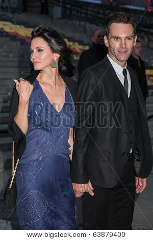 NEW YORK, NY - APRIL 23: Courteney Cox and Johnny McDaid attend the Vanity Fair Party during the 2014 Tribeca Film Festival at the State Supreme Courthouse on April 23, 2014 in New York City