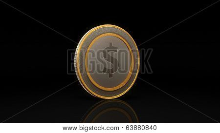 Dollar Currency Coin Exchange Dark 45 Degree