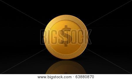 Dollar Currency Gold Coin Exchange Dark