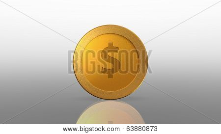 Dollar Currency Gold Coin White Exchange