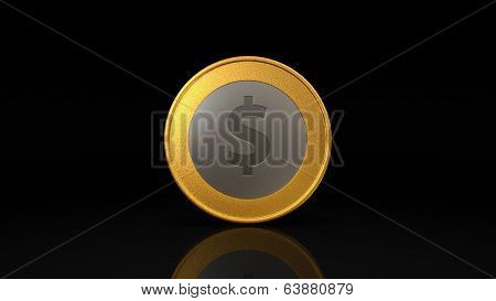 Dollar Currency Gold Silver Coin Exchange Dark