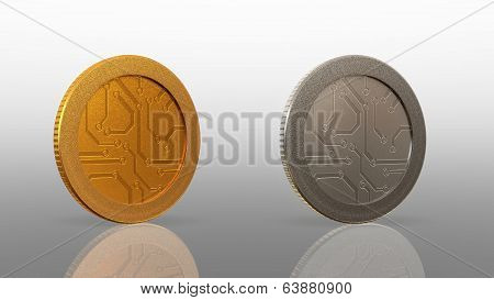 Digital Currency Coin Merge 45 Degree