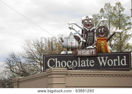 Chocolate World Sign