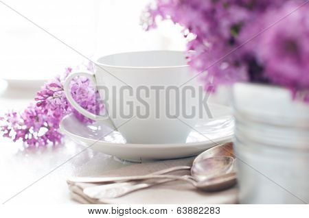Delicate Morning Tea Table Setting