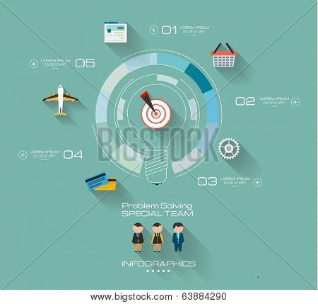 Timeline Infographic design template.  . Idea to display information, ranking and statistics with orginal and modern style.