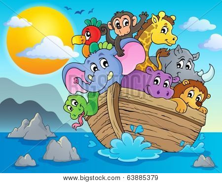 Noahs ark theme image 2 - eps10 vector illustration.