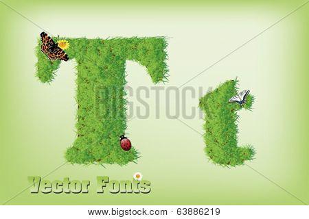Grass font letter