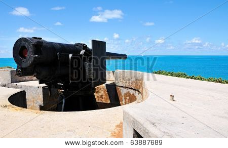 Cannon Pointing At Sea