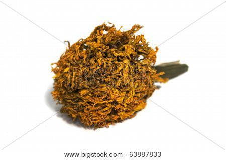 Withered marigold