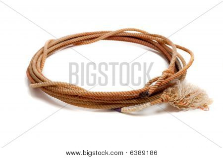 Western Lasso On A White Background