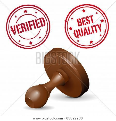 Stamp On White Background - Verified And Best Quality Print