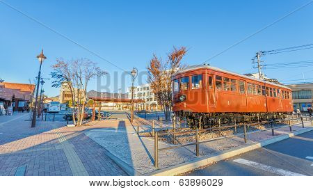 Carnergie model 1897 train at Kawaguchiko Station