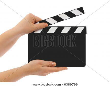 Blank Clapboard In Hands