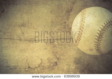 Vintage Background With Baseball