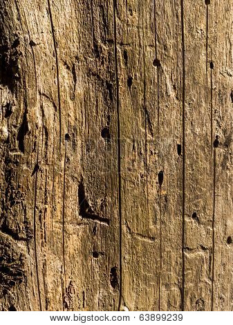 an old wall and wood planks. wooden wall on a hay barn