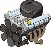 picture of combustion  - car and vehicle engine of internal combustion - JPG