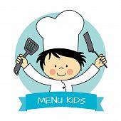 foto of chefs hat  - Illustration of Little Chef boy - JPG