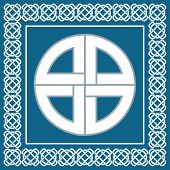 stock photo of swastika  - Ancient Celtic knotsymbol of protection used by vikingsscandinavian warriors vector illustration for ethnic design - JPG