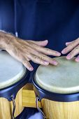 picture of timpani  - Close up view at drummer with instrument - JPG