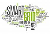 image of smart grid  - Word Cloud with Smart Grid related tags - JPG