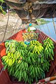 image of plantain  - Plantains and pineapples on a boat near Mompox Colombia - JPG