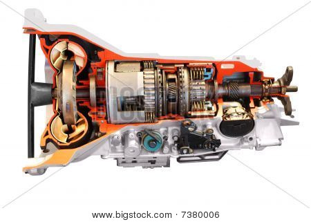 car automatic transmission part isolated