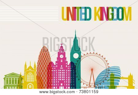Travel United Kingdom Destination Landmarks Skyline Background