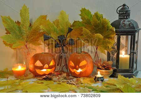 Halloween Still Life With Pumpkins