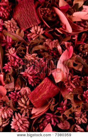 Lovely Scented Purple Potpourri Background